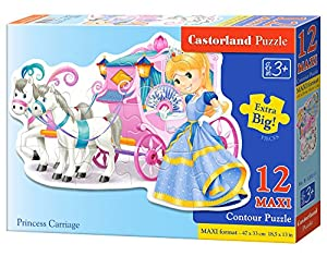 CASTORLAND Princess Carriage 12 Maxi pcs Contour Puzzle 12 Pieza(s) - Rompecabezas (Contour Puzzle, Dibujos, Preescolar, Niño/niña, 3 año(s), Interior)