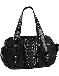 afe173a871f9f Banned -Handtasche-Skull Gothic Rockabilly Corsagen-Bag mit Reißverschluss  Kette Nieten