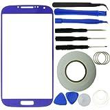 Samsung Galaxy S4 Display Ersatz-Set bestehend aus 1x Austausch Display-Glas für Samsung Galaxy S4 i9500 / 1x Pinzette / 1x Rolle Klebeband 2 mm / 1x Werkzeugsatz / 1x Eco-Fused Mikrofaser Reinigungstuch (lila) …