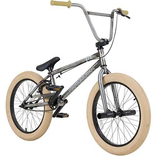 20 Zoll BMX Collective C1 Pro Park Freestyle Bike Fahrrad 16 / 9 Park Bike schwarz oder raw, Farbe:raw