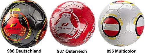ProTouch Fussball Mini Länderball Deutschland schwarz / rot / gold