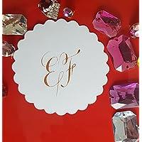 10 Stk Gold-Etiketten, Geschenkanhänger, Tischdeko für Hochzeit und Familienfeier, handgeschrieben