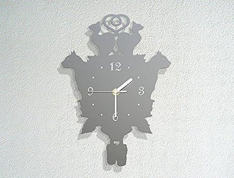 Cat Themed Cuckoo Clock - Pets Kittens - Meow - Modern Novelty Gift - Custom Acrylic Wall Clock