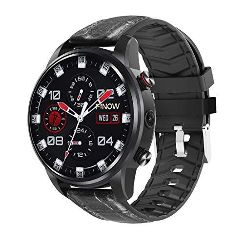 QKa Smartwatch mit geschichtetem Display, Langer Akkulaufzeit, integriertem WiFi-Bluetooth und GPS, Herzfrequenz-Schrittzähler, kompatibel mit iOS Android,Black (Cdma-gsm-android)