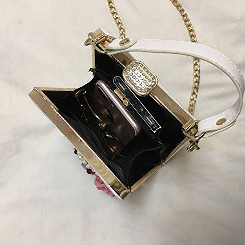 QPALZM Frauen-Weinlese-Art Und Weise Top-Handgriff-Handtaschen-Einkaufstasche-Schultaschen-Troddeln Yellow