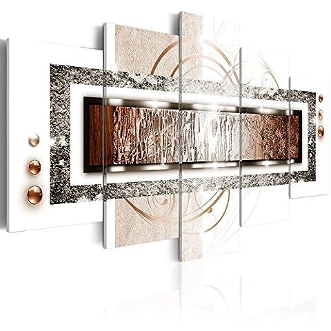 murando® Bilder - 3 Farben zur Auswahl ! Fertig Aufgespannt TOP Vlies Leinwand - 5 Teilig - Abstrakt Wand Bild Bilder Kunstdrucke Wandbild a-A-0003-b-p 100x50