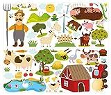 I-love-Wandtattoo WAS-10011 Wandsticker Kinderzimmer Bauernhof Wandtattoo Wandaufkleber Sticker Aufkleber