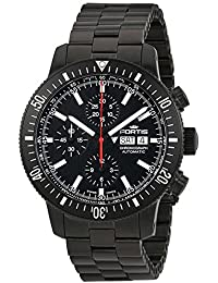 Fortis B-42 Cosmonautis Monolith Automatic Chronograph Black PVD Steel Mens Watch Day & Date 638.18.31.M