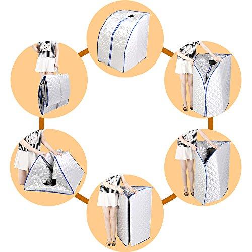FurMune Sauna Portable Faltbare Wärmekabine Ferninfrarot Heimsauna Abspecken Zimmer Gewicht Verlieren Platzsparend -