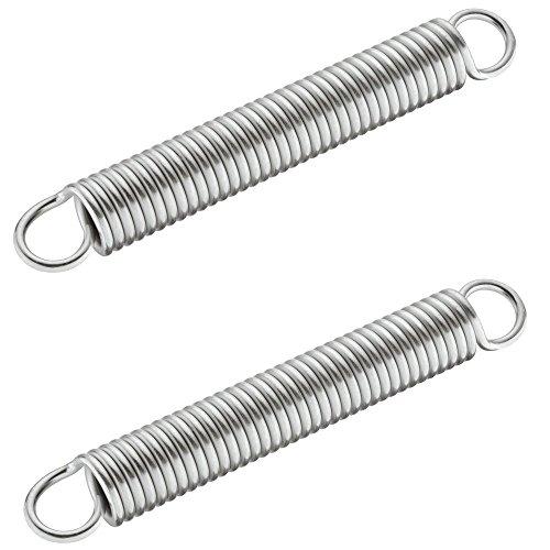 2 Stück - Ersatz-Zugfedern 150 N für Parallel-Schwenkbeschlag | Metall verzinkt | Gesamtlänge: 167 mm | Feder-Ø: 19 mm | Möbelbeschläge von GedoTec®