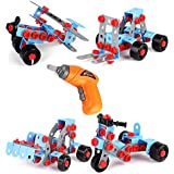 ONEGenug Building Blocks Set Take Apart Educational Construction Engineering Learning Building Kit With Power Drill Toy Workbench Toy Tool Set