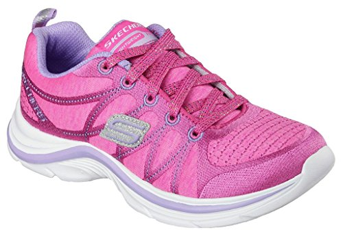 Skechers Kids Swift Kicks Training Shoe (Little Kid/Big Kid) Neon Pink/Lavender