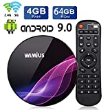 TV Box Android 9.0 [4GB+64GB], WiMiUS K1Pro Smart Box TV 4K Ultra HD Dual Band WIFI 2.4/5G, Bluetooth 4.0, USB 3.0, Amlogic S905X2