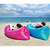 Buyerzone Inflatable Nylon Fabric Air Lazy Sofa