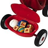 Radio Flyer Steer and Stroll Trike, Tricycle with Push Handle