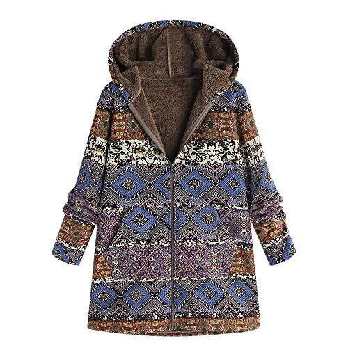 Yvelands Kapuzenjacke Damen Mäntel,Winter Warmer Hoodie Pullover lang -