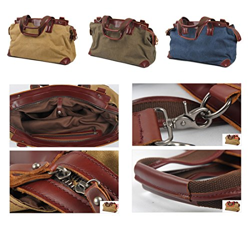 peak Jungend Canvas di alta qualità Unisex Outdoor borsa a tracolla Messenger Bag borsa da viaggio pratica Custodia Borsa a tracolla custodia bagagli alla moda Kaki