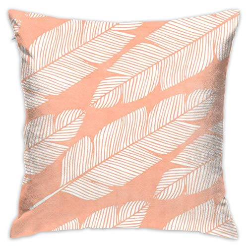 Feather Throw Pillow Cases Square Cushion Cover for Cars Sofa Bars Home Decorative 18x18 Pillowcase -