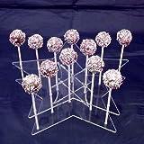 Super Cool Creations 290x 65x 260mm Acryl Stern Cake Pop-Ständer mit 15Löcher 5cm Apart, transparent