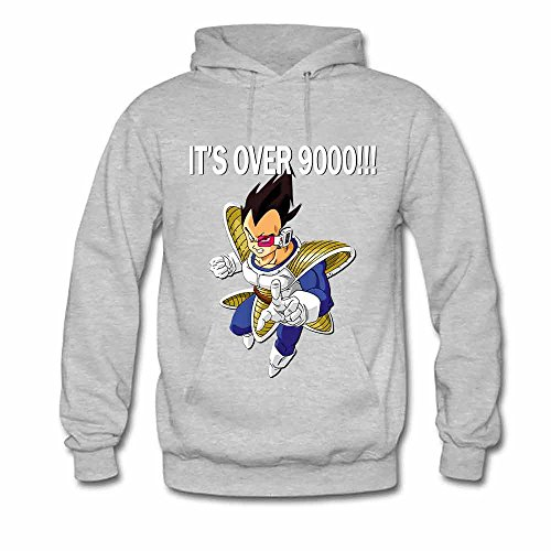 Womens Hooded Sweatshirt Its Over 9000 - Dragon Ball z Hoodie S