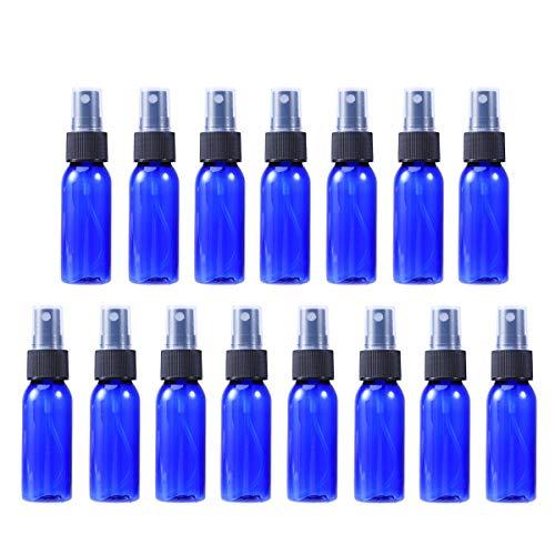 Frcolor 15pcs Bouteilles Spray Pulvérisation Petits Flacons Voyage Réutilisables Parfum (30ml Bleu avec Pulvérisateur Noir)