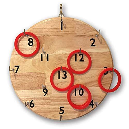 smileyshy Puzzle-Ring-Spiel an der Wand Gummi Holz Digitalplatte - Addieren Ganzen Zahlen Von Subtrahieren Und