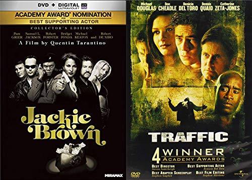 Drag Em' Down Knock Em' Out Guns Blazing Dramas: Jackie Brown & Traffic (2 Award Winning Feature Film DVD Bundle)