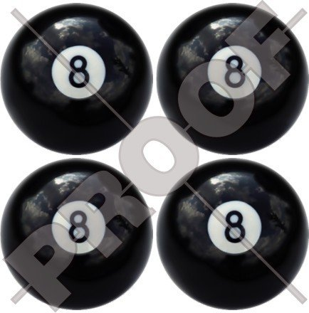 Acht Kugel 8Billard Pool Snooker 5,1cm (50mm) Vinyl bumper-helmet Sticker, Aufkleber X4