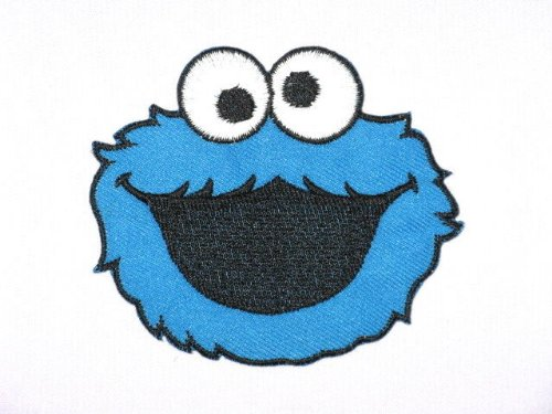 cookie-monster-sesame-street-iron-on-emroidered-badge-patch-3485cm-x-3-76cm-by-sslink