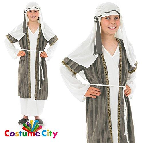 Hirte/Schäfer Grau Krippenspiel Kostüm Kinder Gr. (Hirten Kostüm Kinder)