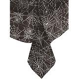 Nappe en plastique noir Halloween Spider Web, 7m x 4,5m