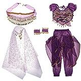 Sharplace Tenue Déguisement de Danseuse Orientale pour Enfant Fille Cosplay Halloween Carnaval - Violet, M