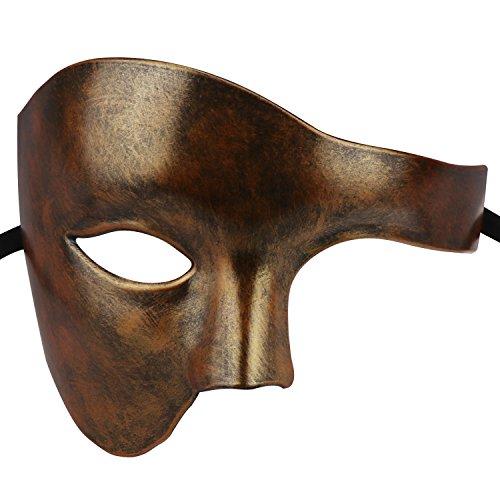 Coddsmz Masquerade Steampunk Maske Phantom der venezianischen Maske Mechanische Party Maske (Antikes ()