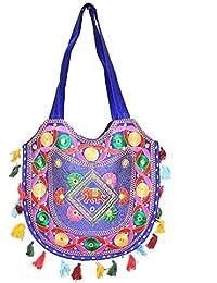 Designer And Trendy Handicraft Jhola Bag Ethnic Design Embroidery Work For Girl/women/Ladies - B077P1YYG6
