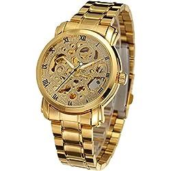 LEORX Men Boy Fashion Business Automatic Mechanical Wrist Watch - 1 Piece