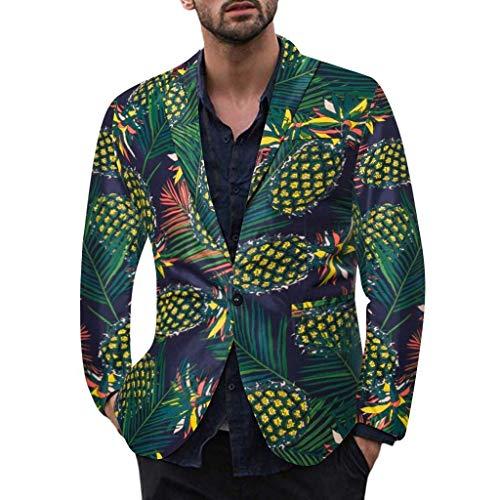Karneval Vintage Kostüm - Herren Kostüm Anzug Dasongff Hawaii Karneval Fasching Party Vintage Blazer