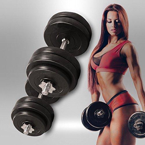 20 Kg 30 Kg 40 Kg 50 Kg Haltère Ensemble Vinyle Gym Gratuit Poids Biceps Aptitude Haltères ?