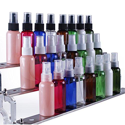 6pcs 50ml 1.7oz vuoto ricaricabile portatile in plastica fine Mist Make Up Spray Bottiglie contenitore Flaconcino per olio essenziale profumo Cosmetic Atomizers Sprayer