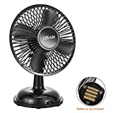 OTraki USB Desk Fan Silent Rechargeable 360 Degree Rotation with Battery Operated Flexible Adjustable Fan For Home, Office, Baby Stroller