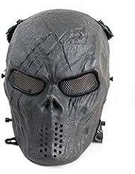 genmine Juego de máscaras de cara completa para Airsoft o paintball BB pistola combate, cara completa protección máscara para CS juego de guerra o Halloween Cosplay