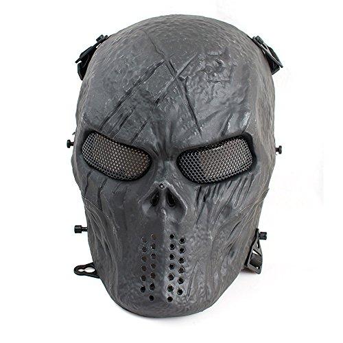 genmine Full Face Masken für Airsoft oder Paintball Spiel BB Gun Combat, Full Face Schutz Maske für CS Krieg Spiel oder Halloween ()