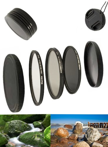 Digital Slim Filter Komplettset Pro für 55mm Objektive - Slim UV MC Pro II - Slim Zirkular Polfilter - Slim ND64 Neutral Graufilter + Bonus