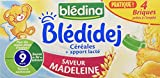 Blédina Blédidej 12 briques Céréales au Lait de suite Saveur Madeleine dès 9 mois (Pack de 3x4 briques)