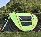 Vollautomatische Geschwindigkeitseröffnung Zelt Anti-Regen Boot Konto, werfen ing-Account kostenlos einrichten Outdoor-Camp-Zelt 3-4 Personen (grün)