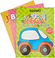 Amazon Brand - Solimo All in One Colouring Books (Set of 3)