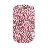 Tenn Well 200m Rot und Weiß Bindfäden
