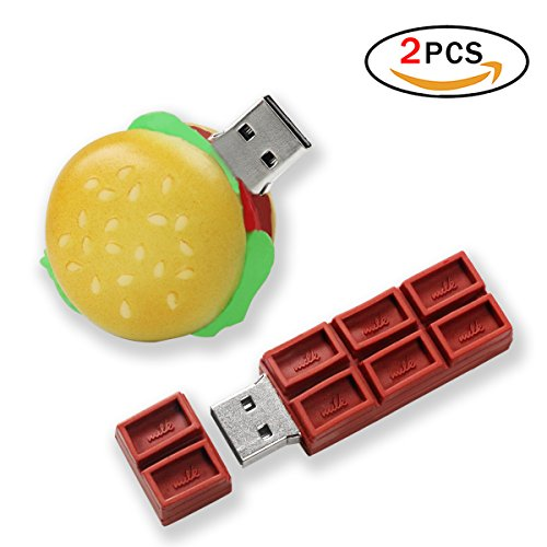 Jer hamburger carina unità flash usb2.0 flash drive 4gb alta velocità cioccolato flash drive memoria stick thumb drive chiavetta usb, 2 pack