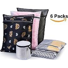 Wäschenetz Set mit 6 Wäschesäcke in verschiedenen Größen, Premium Wäschesack Wäschebeutel für Waschmaschine, von Nestron