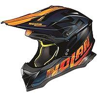 2018 Nolan N53 Whoop MX - Casco plano para motocross (talla M), color negro y naranja