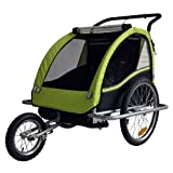 Remolque de bici para niños con kit de footing, color: LEMON / negro - 602-02